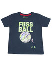 Fussball 50 - Kinder Kurzarm Shirt, 4-5 Jahre, washed navy