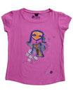Feenreise 137/199 - Mädchen Kurzarm Shirt, 6-7 Jahre, bubble gum pink