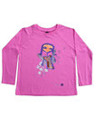 Feenreise 49/199 - Kinder Langarm Shirt, 2-3 Jahre, bubble gum pink