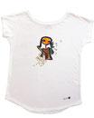 Feenreise 181/199 - Frauen Kurzarm Shirt, small, weiss