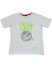 Fussball 64 - Kinder Kurzarm Shirt, 6-7 Jahre, weiss