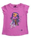Feenreise 77/199 - Mädchen Kurzarm Shirt, 4-5 Jahre, bubble gum pink