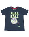 Fussball 72 - Kinder Kurzarm Shirt, 6-7 Jahre, washed navy