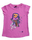 Feenreise 72/199 - Mädchen Kurzarm Shirt, 4-5 Jahre, bubble gum pink