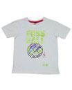 Fussball 34 - Kinder Kurzarm Shirt, 4-5 Jahre, weiss