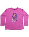 Feenreise 104/199 - Kinder Langarm Shirt, 4-5 Jahre, bubble gum pink