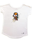 Feenreise 184/199 - Frauen Kurzarm Shirt, small, weiss