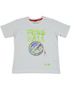 Fussball 63 - Kinder Kurzarm Shirt, 6-7 Jahre, weiss