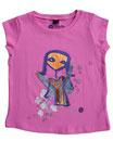 Feenreise 15/199 - Mädchen Kurzarm Shirt, 2-3 Jahre, bubble gum pink