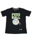 Fussball 86 - Kinder Kurzarm Shirt, 6-7 Jahre, schwarz