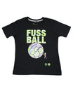 Fussball 53 - Kinder Kurzarm Shirt, 4-5 Jahre, schwarz