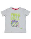 Fussball 3 - Kinder Kurzarm Shirt, 2-3 Jahre, weiss