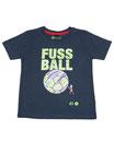 Fussball 48 - Kinder Kurzarm Shirt, 4-5 Jahre, washed navy