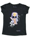 Feenreise 144/199 - Mädchen Kurzarm Shirt, 6-7 Jahre, schwarz