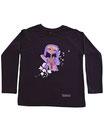 Feenreise 180/199 - Kinder Langarm Shirt, 6-7 Jahre, schwarz