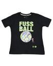 Fussball 58 - Kinder Kurzarm Shirt, 4-5 Jahre, schwarz