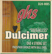 "GHS Strings Dulcimer Ball End Plain/Phosphor Bronze Squeakless (42"" Winding), .012 - .024"