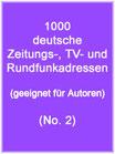 1000 deutsche Presseadressen (No. 2)