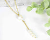 Süsswasser Perlen Y Kette Edelstahl vergoldet 2 -10 mm