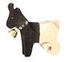 Walliserziege mit Glocke, handgesägt