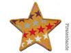 Stern Sternchen ocker Applikation