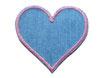 Jeans Flicken Herz rosa