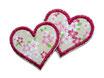 Herz Applikation Kirschblüten 2er Set