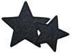 Stern Jeans schwarz Aufnäher