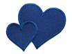 Regenhosen Herz dunkelblau