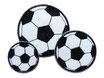 Fußball Aufnäher 3er Set