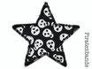 Stern Piraten Totenkopf Aufnäher