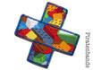 Hosenpflaster Lego Bausteine