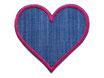 Jeans Flicken Herz pink