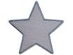 Stern grau Aufnäher