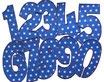 Geburtstagszahlen Aufbügler Sterne blau