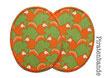 2 Knieflicken Eichhörnchen orange