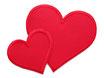 Regenhosen Herz rot
