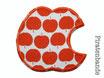 Hosenflicken Apfel rot
