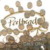 Light Grey Opal Facet Bead 8 mm