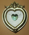 Swarovski Strass Heart Antique Green 28mm