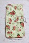 iPhone 5/5S cremefarben mit Rosen Schutzhülle