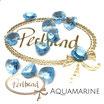 Aquamarine Heart Pendant 10.3 mm x 10 mm
