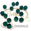 Emerald Facet Bead 10 mm