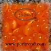 Katzenauge Glasperle Orange 6mm