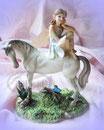 Elfe Daydreaming auf Pferd