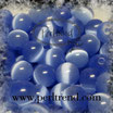Katzenauge Glasperle hellblau 6mm