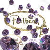Violet Xilion Chaton Round Stone 8 mm