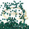 Emerald Bicone Bead 4 mm