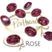 Rose Fancy Stone Oval 18 mm x 13 mm