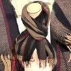 Schal Karomuster Streifen ZickZack dunkelblau-schwarz, beige, rot